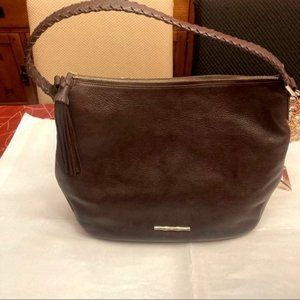 Elaine Turner beautiful brown leather tote